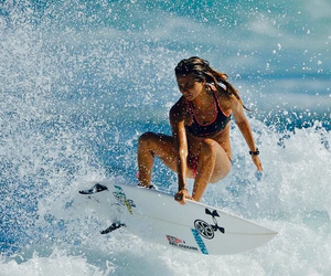 surf, girl, and waves image