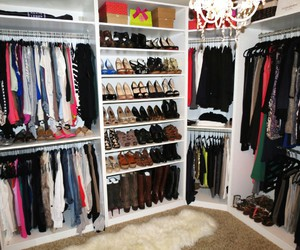 closet, girly, and shoes image