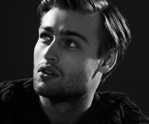 douglas booth, black and white, and boy image