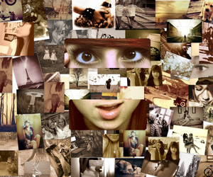 Collage, eyes, and girl image