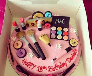 cake, mac, and make up image