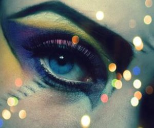 colors, eye, and glitters image