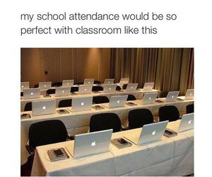 school, apple, and funny image
