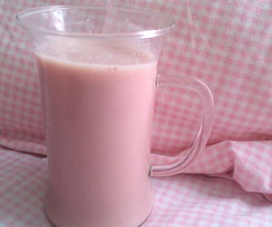 pink, milk, and pale image
