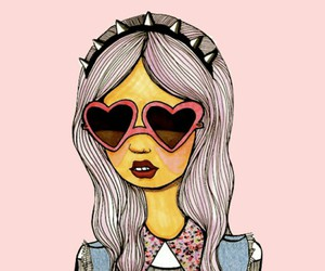 girl, hipster, and pink image