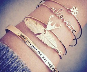 beautiful, bracelet, and girls image