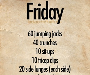 fitness and friday image