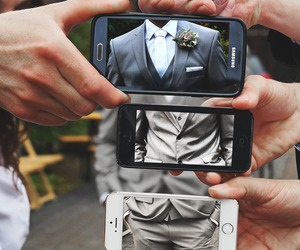 suit, iphone, and photography image