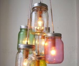 light, diy, and jar image
