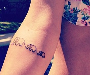 elephant, tatoo, and tattoo image