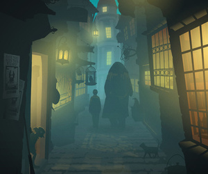 harry potter, hagrid, and diagon alley image