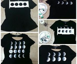 diy, moon, and t-shirt image