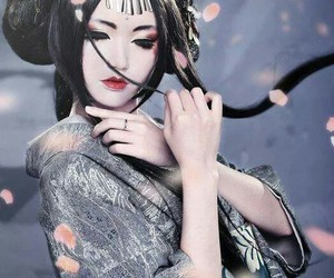 japan, beauty, and geisha image