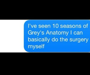 funny, true story, and grey's anatomy image