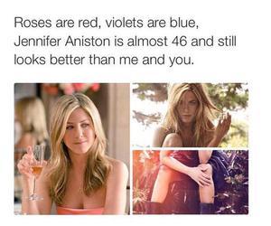 funny, Jennifer Aniston, and rose image