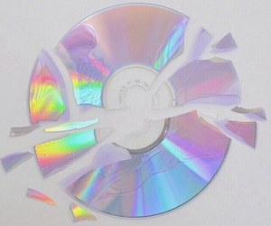cd, grunge, and rainbow image