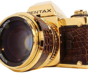camera, pentax, and gold image