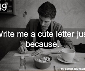 Letter and cute image