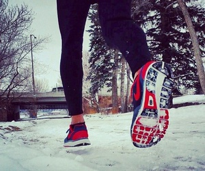 workout, run, and winter image