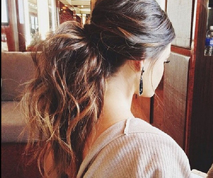 brown, hair, and ponytail image