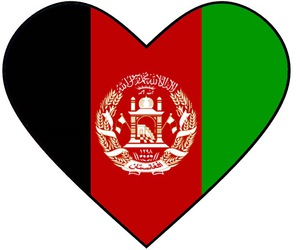 Afghanistan, heart, and قلب image
