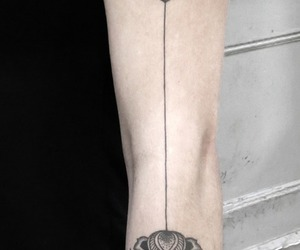arm, beautiful, and flower image