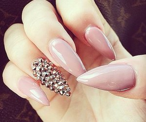 manicure, pink, and nails image