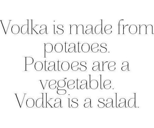vodka, salad, and potato image