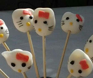 hello kitty, pink, and lollipops image