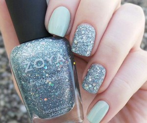 nails, zoya, and glitter image