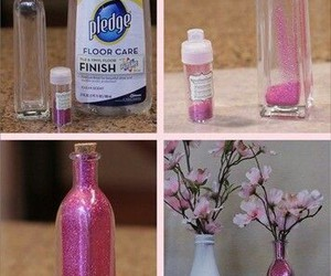 diy, glitter, and flowers image