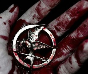 blood, the hunger games, and mockingjay image