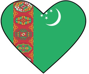 heart and turkmenistan image