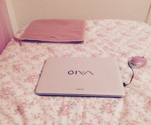 flowers, pink, and sony vaio image