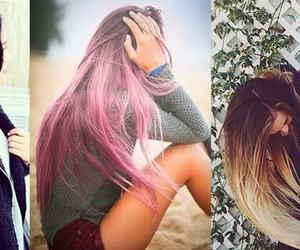 dye, girl, and hair image