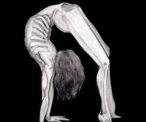 bones and black and white image