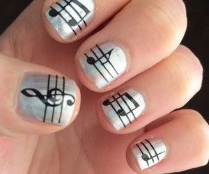 music note on nails image