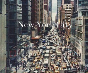 buildings, new york, and taxis image