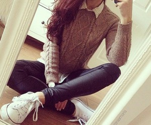 beige, chucks, and chic image