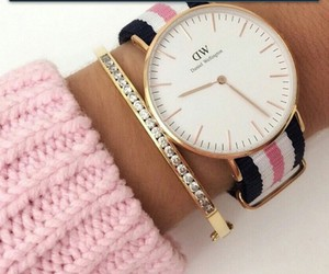 watch, pink, and style image
