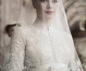 grace kelly, wedding, and dress image