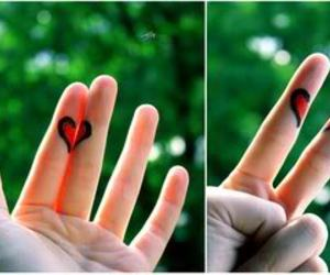 heart, love, and hand image
