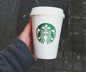 coffee, grunge, and starbucks image