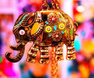 colorful, elephant, and indian image