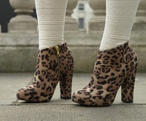 animal print, boots, and leopard image