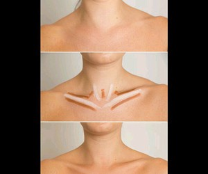 makeup and collarbones image