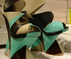 funky, mint, and shoes image