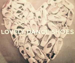 ballet, heart, and shoes image
