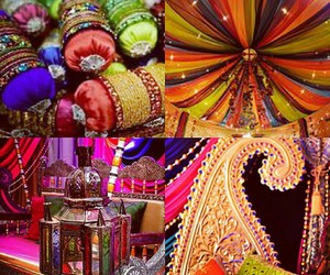 beautiful, indian wedding, and colorful image
