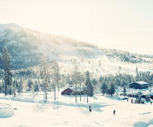 beautiful, ski, and snow image